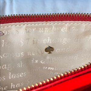 kate spade Bags - Kate Spade Wristlet EUC Red Patented